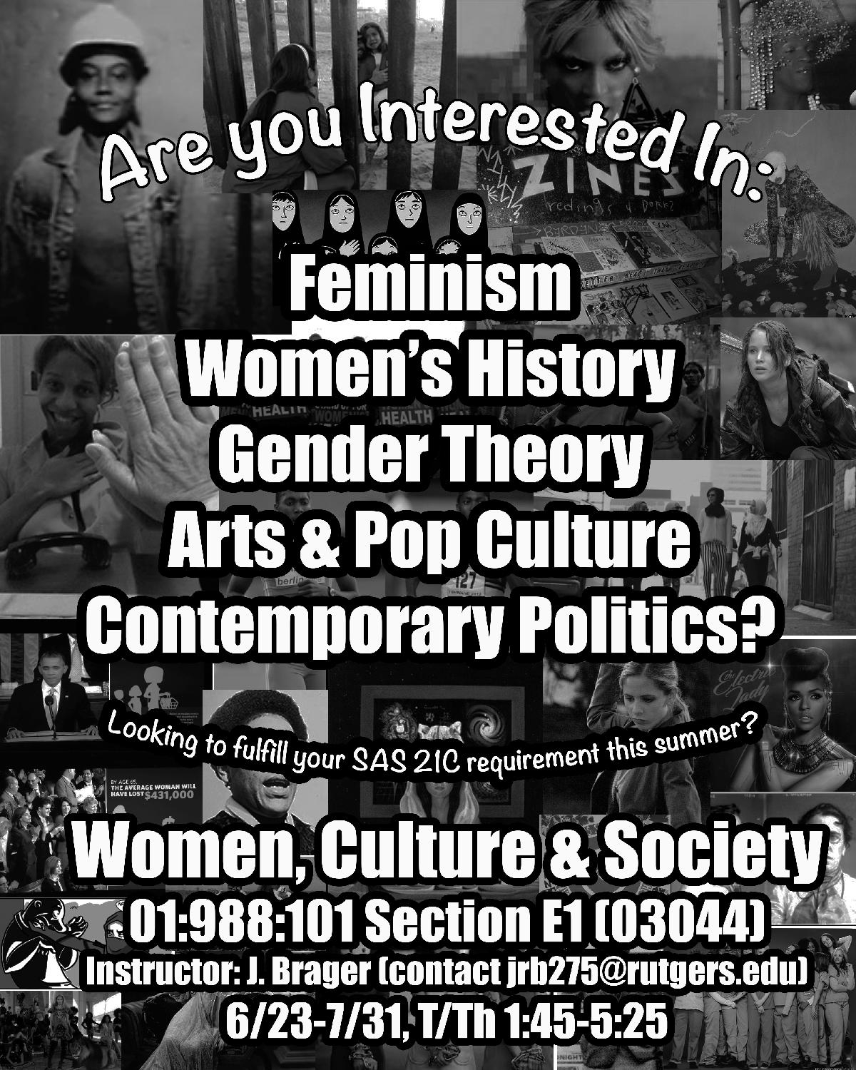 What topic should I do for my research paper in Feminist Studies?