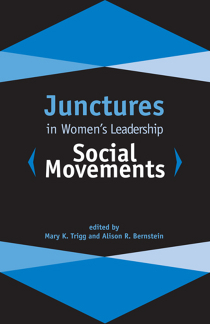 Junctures in Women's Leadership: Social Movements. Rutgers University Press, 2016. (Edited by Mary K. Trigg and Alison R. Bernstein).