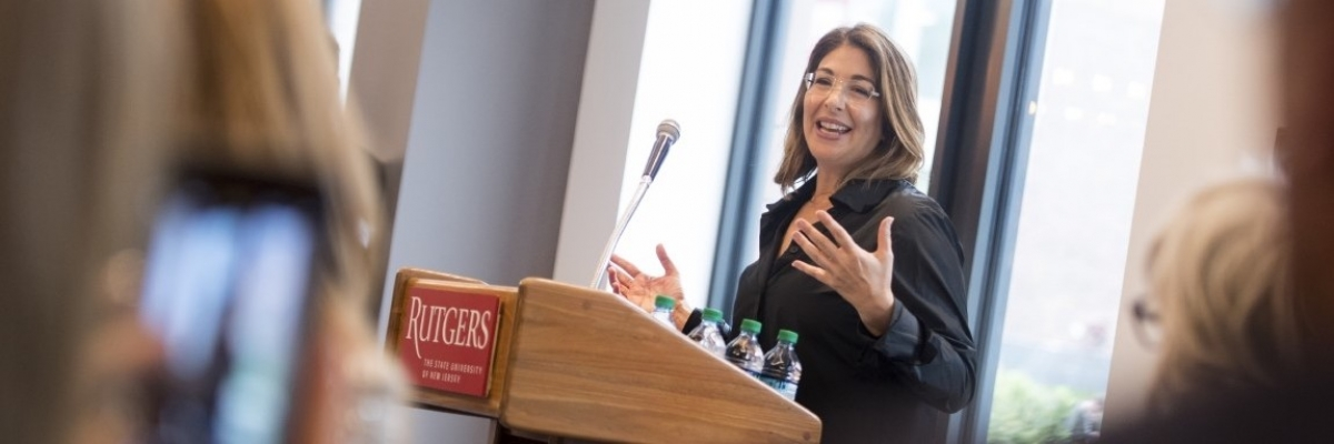 NAOMI KLEIN NAMED RUTGERS' INAUGURAL GLORIA STEINEM CHAIR